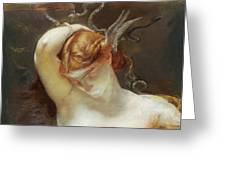 Study For The Gorgon And The Heroes Greeting Card