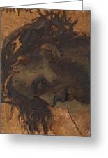 Study For The Head Of Christ In A Crucifixion Greeting Card