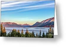 Stunning Alaskan Mountain Lake Greeting Card