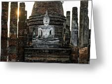 Sukhothai Buddha Greeting Card