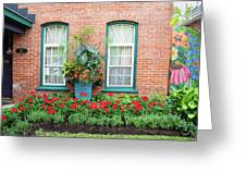Summer Street Garden Greeting Card