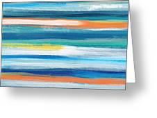 Summer Surf 3- Art By Linda Woods Greeting Card