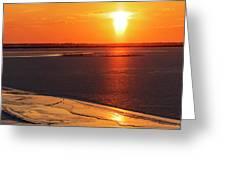 Sun Pillar 03 Greeting Card by Rob Graham
