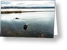 Sunken Boat Greeting Card