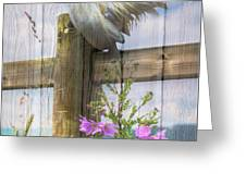 Sunny Summer Breeze  Greeting Card by Debra and Dave Vanderlaan