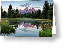 Sunrise At Schwabacher Greeting Card by Ronnie and Frances Howard