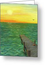 Sunrise At The Dock Greeting Card