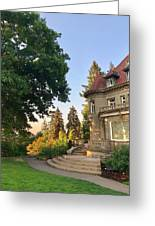 Sunrise At The Mansion Greeting Card