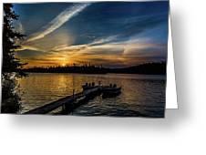 Sunrise Dog Lake Greeting Card