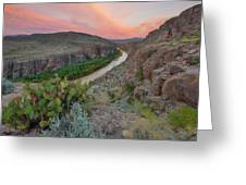 Sunrise In Big Bend Along The Hot Springs Trail 1 Greeting Card