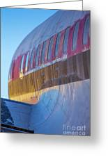 Sunrise On An Old Airplane Greeting Card