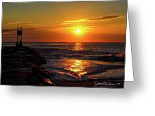 Sunrise Over Indian River Inlet Greeting Card
