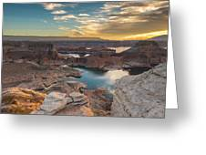 Sunrise Over Padre Bay On Lake Powell Greeting Card