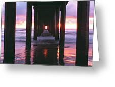 Sunrise Over The Pacific Ocean Seen Greeting Card