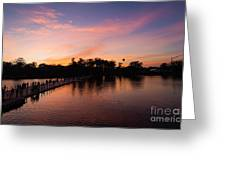 Sunset At Angkor Wat Greeting Card