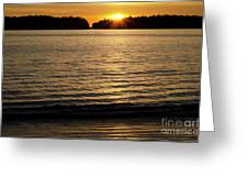 Sunset Beach Vancouver Island 2 Greeting Card