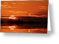 Sunset Behind Clouds Two Greeting Card
