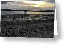 Sunset By Bucklands  Beach Greeting Card