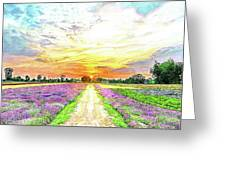 Sunset - Colors Of Nature Greeting Card