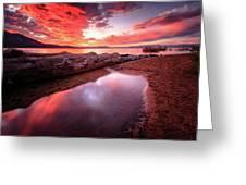 Sunset Harmony At Kiva Beach Greeting Card