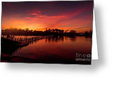 Sunset In Angkor Greeting Card