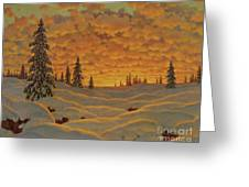 Sunset In Finland  Greeting Card
