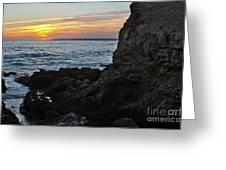 Sunset In Gale Beach. Coast Of Algarve 2 Greeting Card