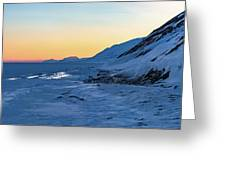 Sunset In The Arctic Greeting Card