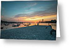 Sunset Looker Greeting Card