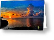 Sunset On Cudjoe Bay 8584 Greeting Card