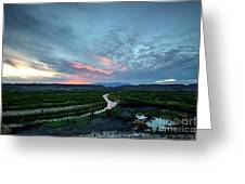 Sunset On The Rio Grande Greeting Card