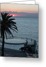 Sunset Over A Balcony Greeting Card