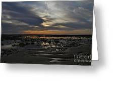 Sunset Over The Rota Corrales Greeting Card