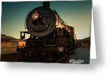 Sunset Steam Train 539 Greeting Card by William Havle