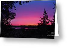 Sunset Summer Greeting Card