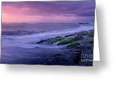 Sunset Surf On The Gulf Of Mexico, Venice, Florida Greeting Card