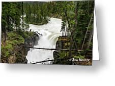 Sunwapta Falls Greeting Card