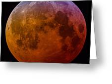 Super Wolf Blood Moon Lunar Eclipse Of 2019 Greeting Card