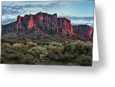 Superstition Mountains Colors Greeting Card