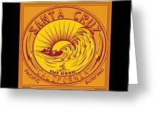 Surfing Santa Cruz California Steamer Lane Greeting Card