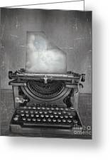 Surreal Imagine In Black And White Of A Greeting Card