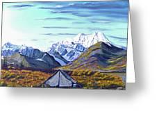 Susitna River Camp Greeting Card