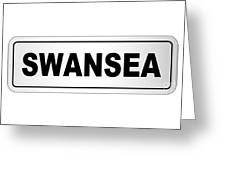 Swansea City Nameplate Greeting Card
