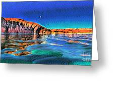 Swells And Reflections Lake Powell Greeting Card