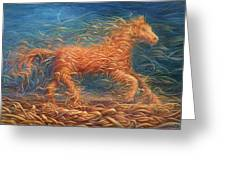 Swirly Horse 1 Greeting Card