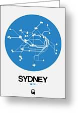 Sydney Blue Subway Map Greeting Card