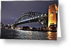 Sydney Harbor Bridge Night View Greeting Card