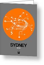 Sydney Orange Subway Map Greeting Card