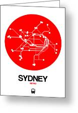 Sydney Red Subway Map Greeting Card