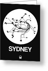 Sydney White Subway Map Greeting Card